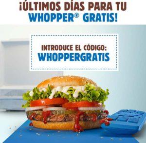Whopper gratis
